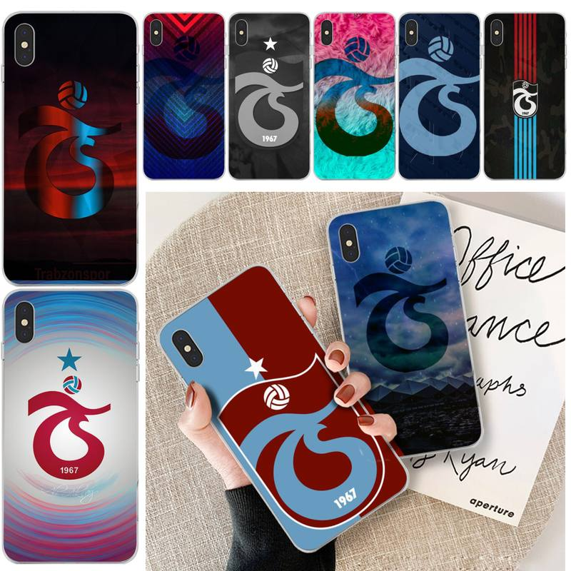 Trabzonspor Logo Customer High Quality Phone Case For iphone 6 6s plus 7 8 plus X XS XR XS MAX 11 11 pro 11 Pro Max Cover image