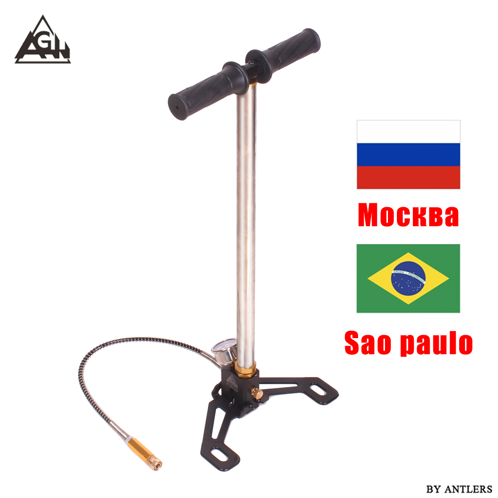 30Mpa 4500psi Air PCP Paintball Pump 3 Stage Air Rifle Hand Pump High Pressure With Filter Bomba Pompa Not Hill Mini Compressor