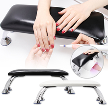 High Quality Black PU Leather Hand Pillow Rest Manicure Table Hand Cushion Pillow Holder Arm Rests Nail Art Stand Nail Arm Rest