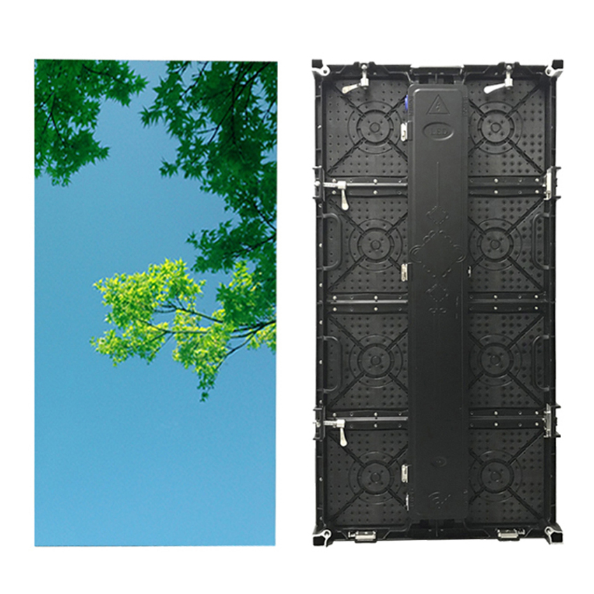 500x1000mm Outdoor P3.91mm Die Casting Aluminum Cabinet Led Display Screen Panel, 128x256dots Advertising Led Video Wall Rental
