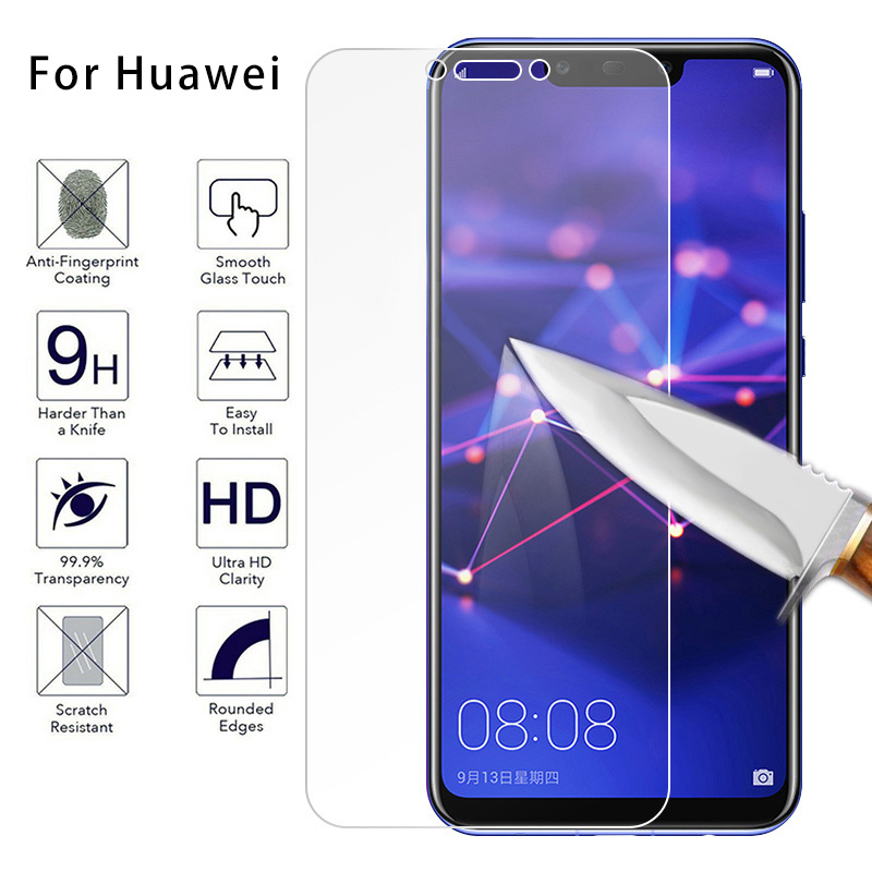 Transparent Front Glass Toughed Tempered Glass For Huawei P6 P7 P8 Lite Screen Protector For Huawei P9 P10 Lite Plus 9H Hard