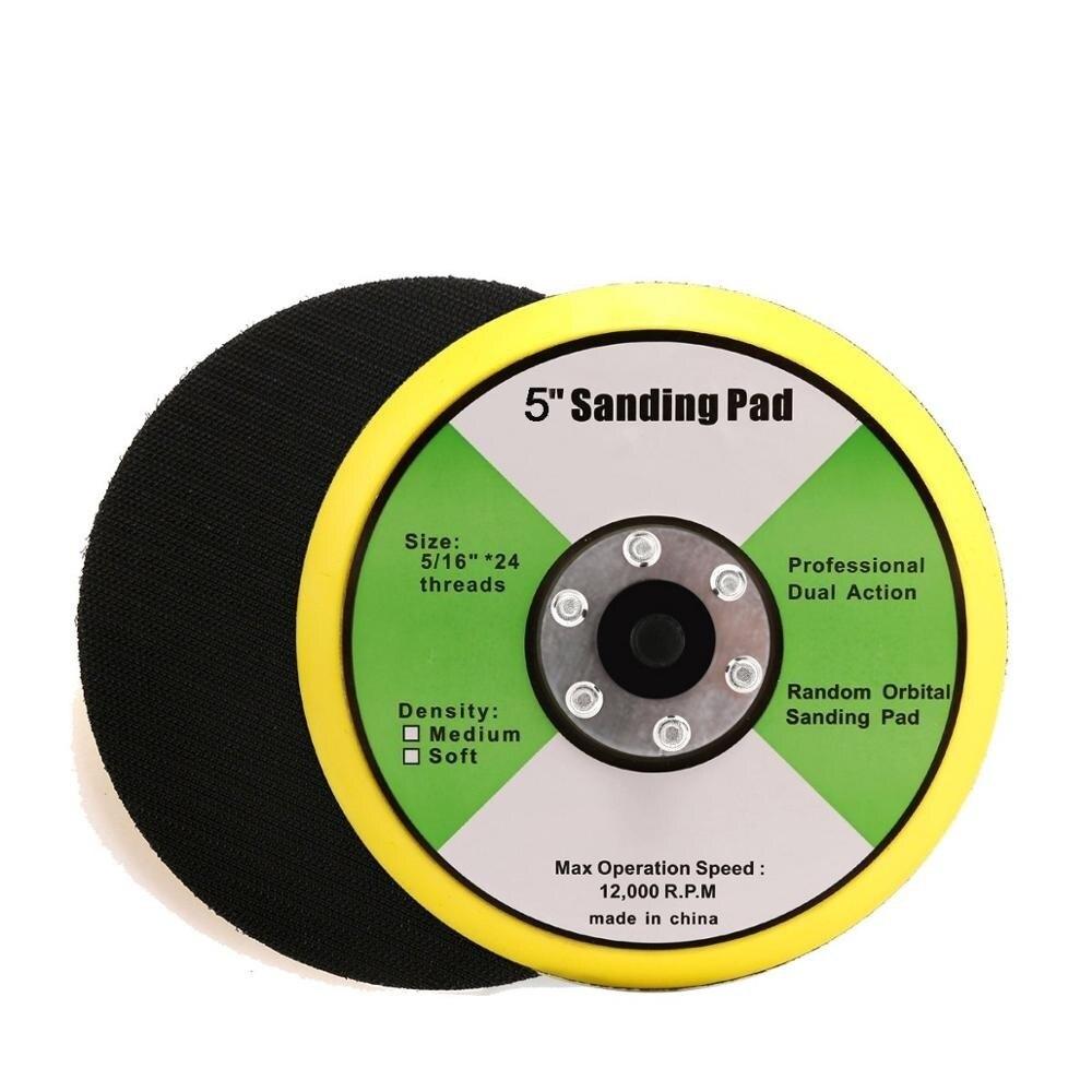 5 Inch Backing Pad Car Polisher Bonnet Sander Paper Disc Polishing Machine Tool Hook Backing Plate For Sanders Or Polishers