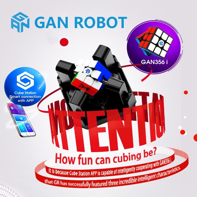 Nouveau Gan Robot ou Gan356i 3x3x3 magique vitesse Cube Station App GAN 356 i magnétique compétition en ligne GAN356 i aimants Puzzle Cubo