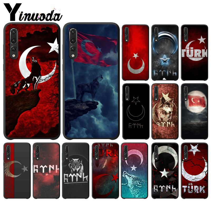 Yinuoda Flag of Turkey <font><b>Istanbul</b></font> Antalya mustafa Wolf Phone Case For Huawei Nova 2 2i2 Plus 2S 3I Nova 3E 3I 4 4E 5 5I Pro image