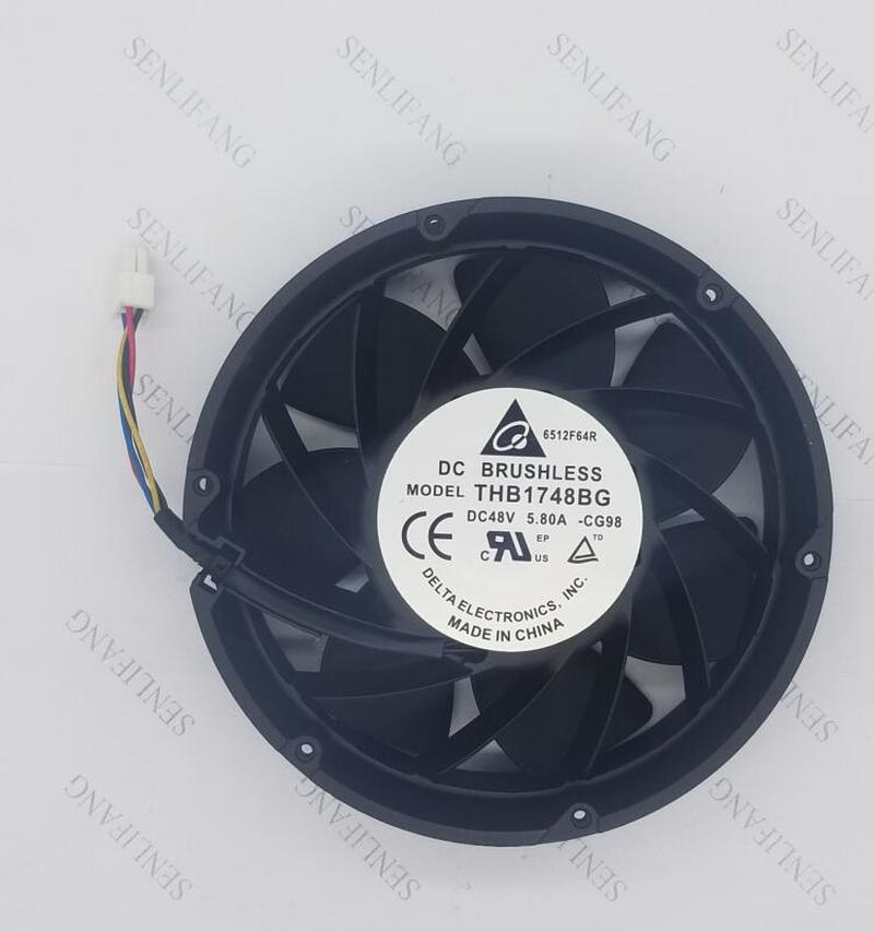 For THB1748BG 48V 5.80A 170X170X56MM 607.0 CFM Round Metal Frame Communications Equipment Cooling Fan Free Shipping