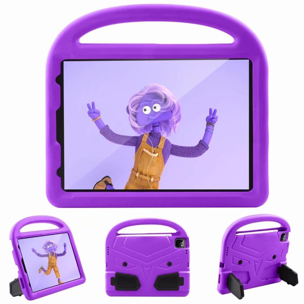 Purple Beige Kids Shockproof EVA Case For iPad Pro 11 2nd Gen 2020 Case Cartoon Handle Stand A2228