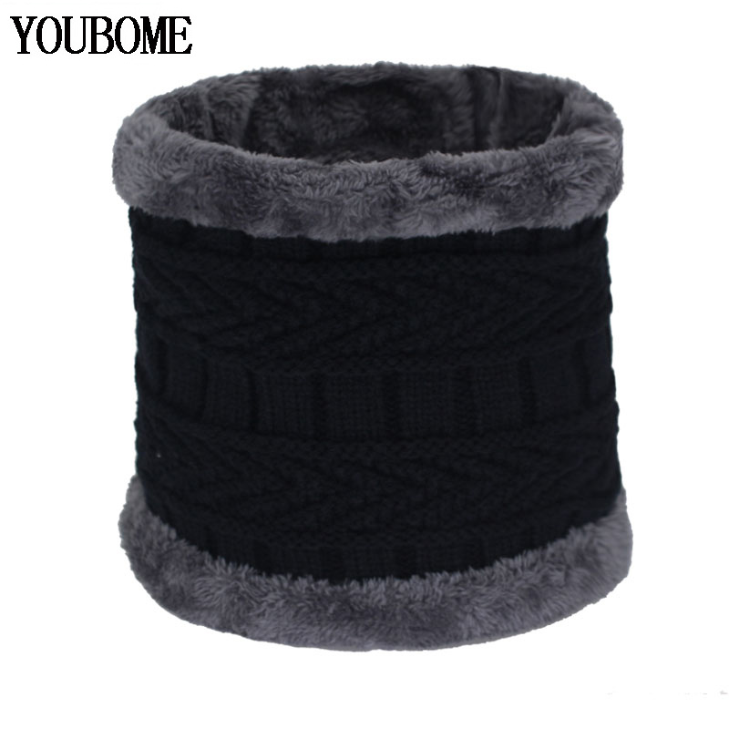 Fashion Women Winter Scarf Men Shawl Winter Knitted Scarves For Man O Neck Snood Warp Collar Warm Solid Female Wool Male Scarves