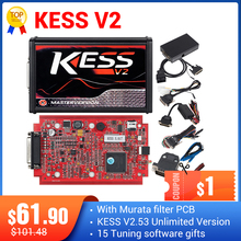 KESS V2 V5.017 pełny on line V2.47 zestaw do strojenia menedżera KTAG V7.020 4 LED mistrz K tag V2.25 KESS BDM tytanu Winole Elektroniczna jednostka kontrolująca programista