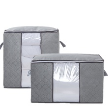 Non-Woven Family Save Space Bed Under Closet Storage Box Clothes Divider Quilt Bag Holder Organizer Thick