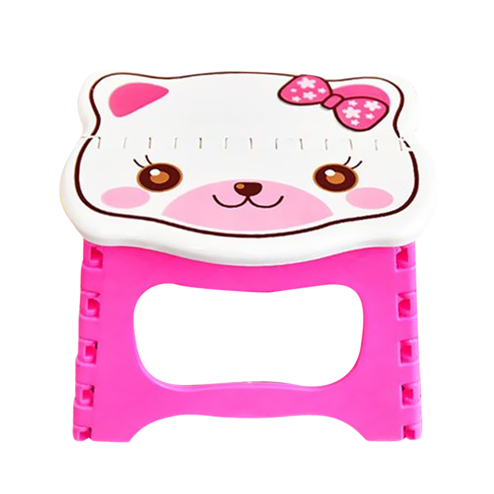 Cute Cartoon Kids Folding Step Stool Portable Children Plastic Chair Seat For Home Leisure Outdoor Camping Chair Seat