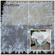 Delicate Transparent Mesh Embroidery Pendant European Tablecloth Bedroom Balcony Coffee Round Table Mat Christmas Decoration novel circular mesh pattern lace round tablecloth transparent christmas party wedding tea table mat decoration mantel nappe