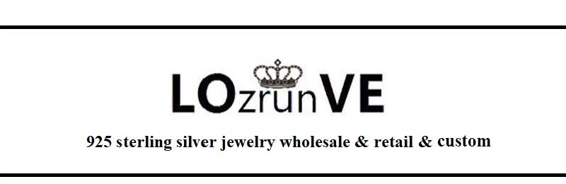 Lozrunve elegante 925 prata 18k banhado a