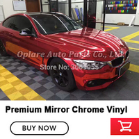 Best Quality Stretchable Mirror cherry red Chrome Wrap chrome vinyl wrapping low initial tack adhesive air release