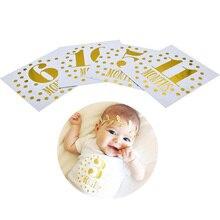 Высококачественная наклейка на месяц для новорожденных, реквизит для фотосессии, открытка с номером, памятные фото-наклейки