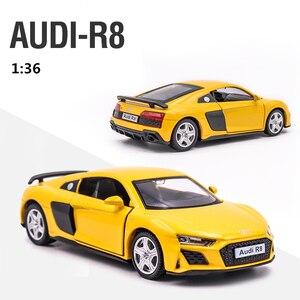 Audi R8 1/36 металлический автомобиль литой Отступить Игрушечные Модели автомобилей для мальчиков и девочек коллекция подарок на Рождество, в офис, для украшения дома| |   | АлиЭкспресс