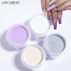 LOVCARRIE Acrylic Powder Glitter Dipping Powder 8 Color Pink Clear White Acrylic Nail Supplies Carving Polymer Pigment Nail Art