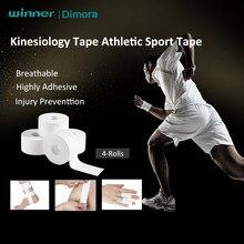 Fita atlética do kinesiology da fita do esporte de dimora, envoltório da lesão do primeiros socorros da lesão da cinta da fita da recuperação do esporte da aptidão do gym