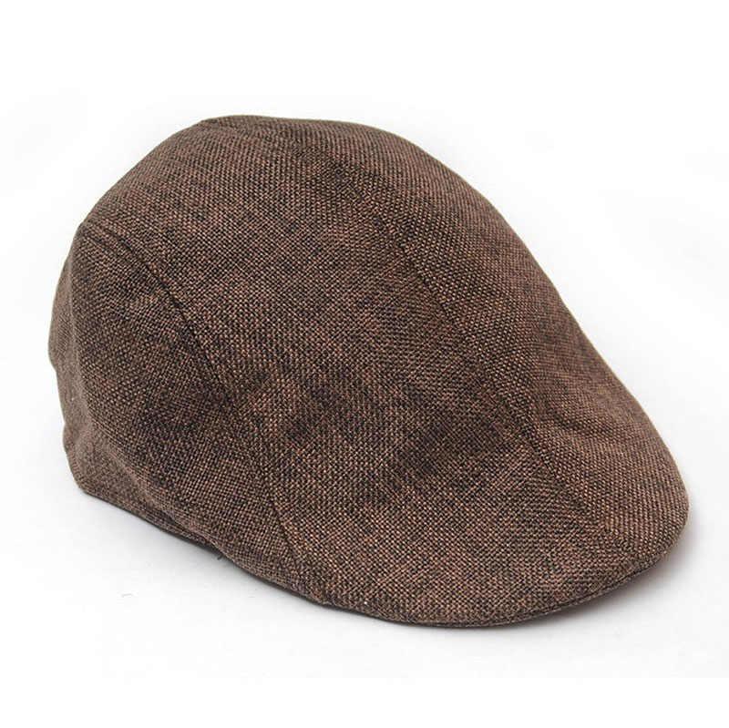 DROP Kapal & Grosir Pria Golf Mengemudi Berjemur Datar Sopir Pengantar Unisex Herringbone Duckbill Ivy Hat Cap Oct.14