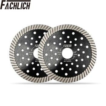 цена на FACHLICH 2pcs All Purpose Diamond Cutting Disc Turbo Saw Blade for Hard Material Marble Granite  Cutter Diameter 4.5/115mm