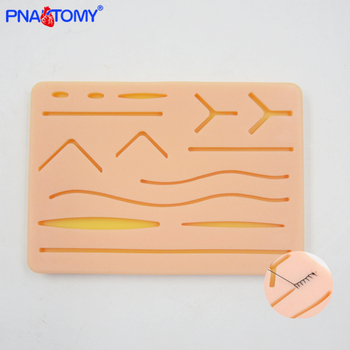 Practice suture pad silicone skin pad suture incision training kit traumatic pistol simulation training tools medical resource vulvar incision suture training model vulva suturing training simulator