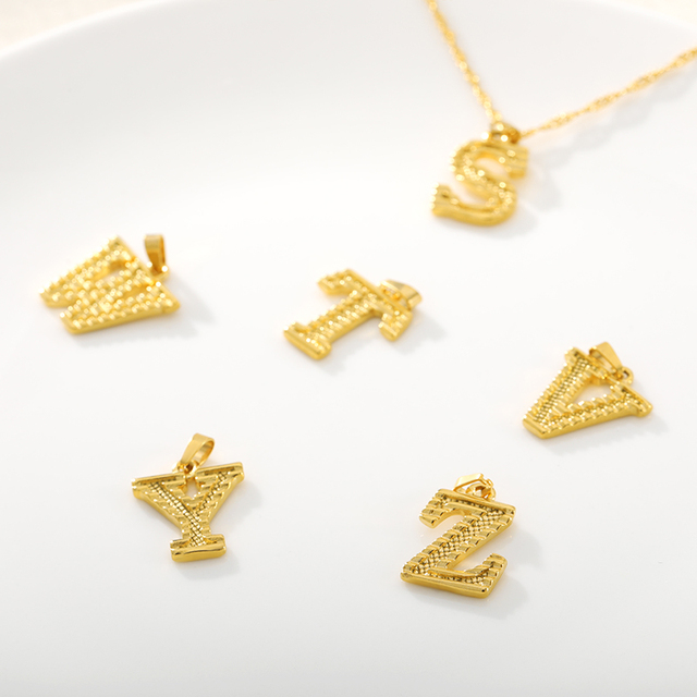 Capital Initial Letter Necklaces For Women Stainless Steel Gold A-Z Alphabet Pendant Necklace Birthday Jewelry Gift Bijoux Femme 6