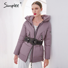 Coat Parka Pocket-Padded-Jacket Hooded Women Winter Ladies New-Brand Female Cotton Casual