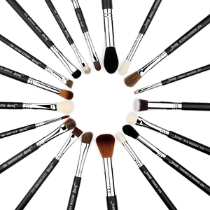 Image 4 - Jessup Juego de brochas de maquillaje profesional, base para sombra de ojos, lápices labiales en polvo, mezcla de pelo, herramienta cosmética de fibra, 7 27 Uds.
