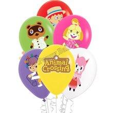 12 pçs animal crossing balão animais brinquedos de cruzamento festa de aniversário decorações brinquedos para crianças