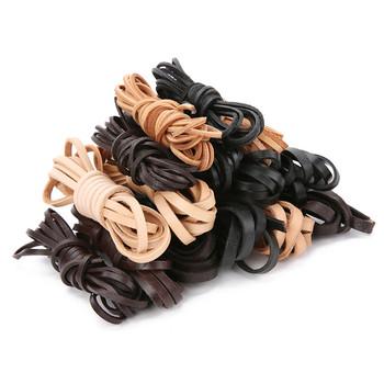 2 metry brązowy czarny płaski prawdziwy naszyjnik skórzany sznur 2mm 3mm 4mm 5mm 6mm 8mm wątek bransoletka skórzana linka Diy tworzenia biżuterii tanie i dobre opinie Aclovex CN (pochodzenie) Sznury 0inch brown string linki do biżuterii Skórzane leather rope natural leather black brown