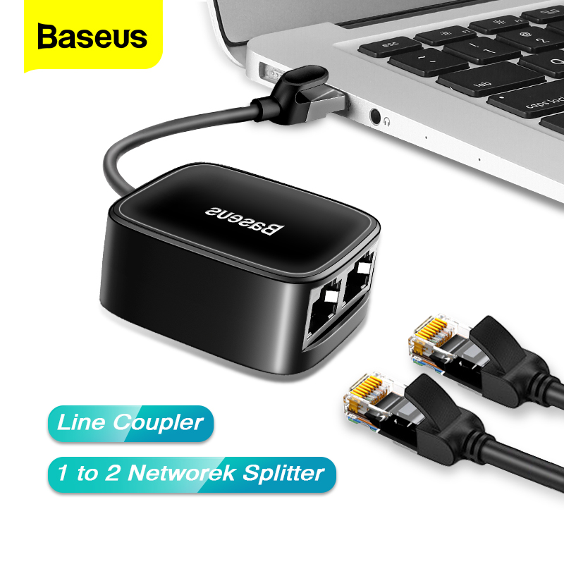 Baseus RJ45 Connector Adapter Anti-Thunder Network Cable Extender Plug Extension For High Speed Ethernet Cable Female To Female