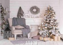 Vinyl Custom Photography Backdrops Prop Christmas day Christmas Tree Theme Photo Studio Background ST-18 free shipping 5ft 7ft 150cm 215cm photography backdrops christmas snow tree bell villa door background
