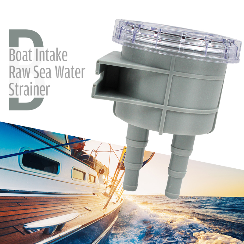 Sea Water Seawater Filter with Clear Cover for Boat Marine Yacht Parts