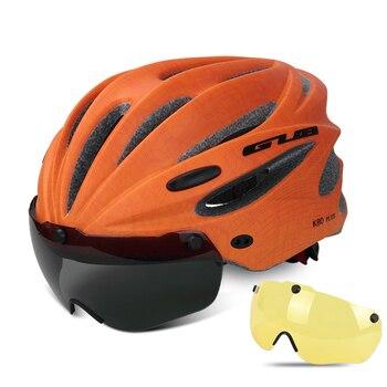 GUB K80 Cycling Helmet with Visor Magnetic Goggles Integrally-molded 58-62cm for Men Women MTB Road Bicycle  Bike Helmet 25