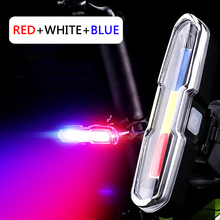 Bicycle-Light Rechargable with USB Led-Blue Waterproof Red Memory-Function Temperture