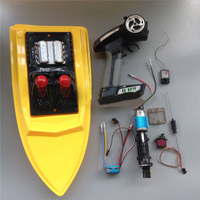 RC Speed Boat Hull with Power Kit Full Drive Set 390 Motor+Jet Pump+160A ESC+9g Servo+Cooler+Push Rod+2.4G Controller RC Parts