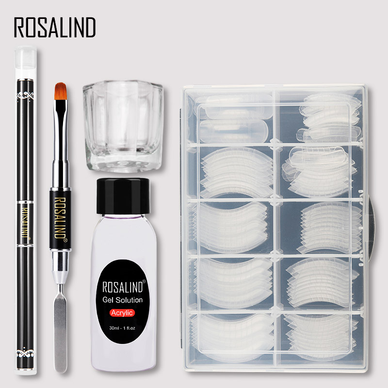 ROSALIND Poly Nail Gel Extension Nail Kit All For Manicure Gel Set Acrylic Solution Water Builder Gel Polish For Nail Art Design 18