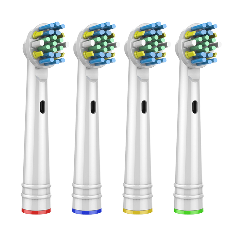 4Pcs replacement brush heads for Oral B electric toothbrush before power/Pro health/Triumph/3D Excel/clean precision vitality image