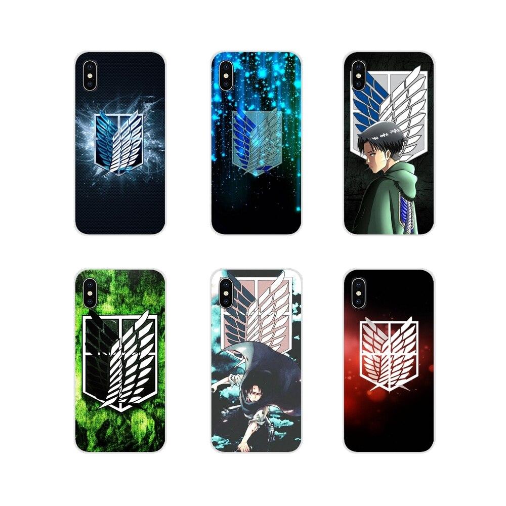 For Huawei G7 G8 P7 P8 P9 P10 P20 P30 Lite Mini Pro P Smart Plus 2017 2018 2019 Attack On Titan Anime Soft Transparent Skin Case
