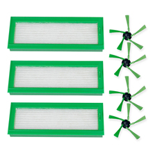 Vacuum Cleaner Replacement Part Accessories For Vorwerk Kobold VR200 Includes 3 Pack Filter And 4 Side Brush