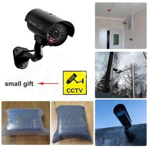 Image 5 - 偽ダミーカメラ弾丸防水屋外屋内セキュリティ cctv 監視カメラ点滅赤色 led 送料無料