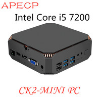 MINI PC Fanless Windows 10 DDR4 Ram Win10 Desktop PC Kaby Lake Core i5 7200U 2 cores 4K 4 threads 2.5GHZ Linux Windows Gaming PC