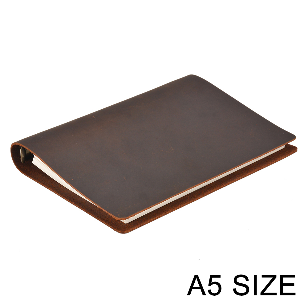 Hot Sale Classic Business Notebook A5 Genuine Leather Cover Loose Leaf Notebook Diary Travel Journal Sketchbook Plannerbusiness plannertravel journaldiary travel -