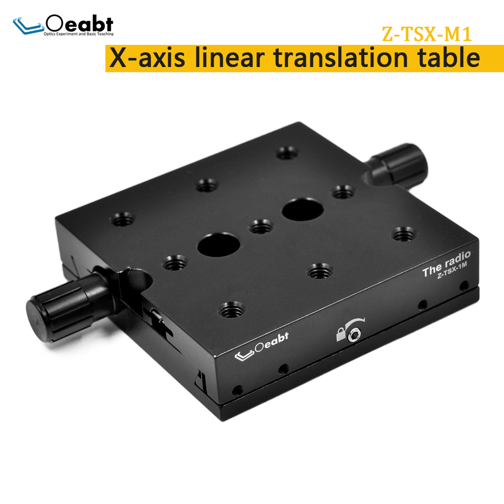 Z-TSX-M1 Linear Translation Table X-axis Displacement Table Precision Manual Adjustment Table XY Axis Dovetail Table