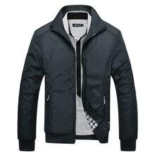 Men Winter Jackets Coats Casual Solid Color Stand Collar Autumn Warm Windbreaker Streetwears Fit Running Baseballl
