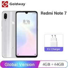 Xiaomi Redmi Note 7, глобальная версия, 4 Гб ОЗУ, 64 Гб ПЗУ, мобильный телефон Snapdragon 660, четыре ядра, 6,3 дюймов, 48 МП, двойная камера, 4000 мАч, FCC CE