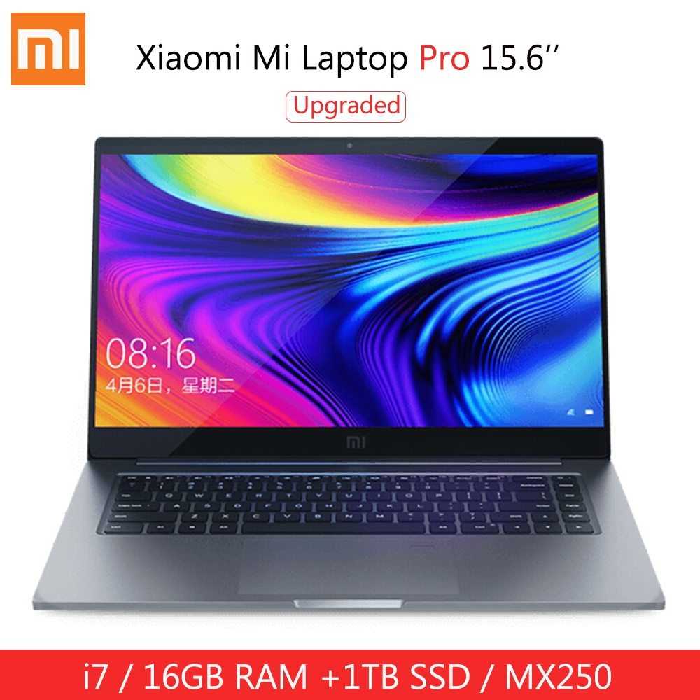 Upgraded Xiaomi Mi Laptop Pro 15.6 Inch I7 - 10510U MX250 Windows 10 Home 16GB RAM 1TB SSD Notebook Fingerprint Unlock