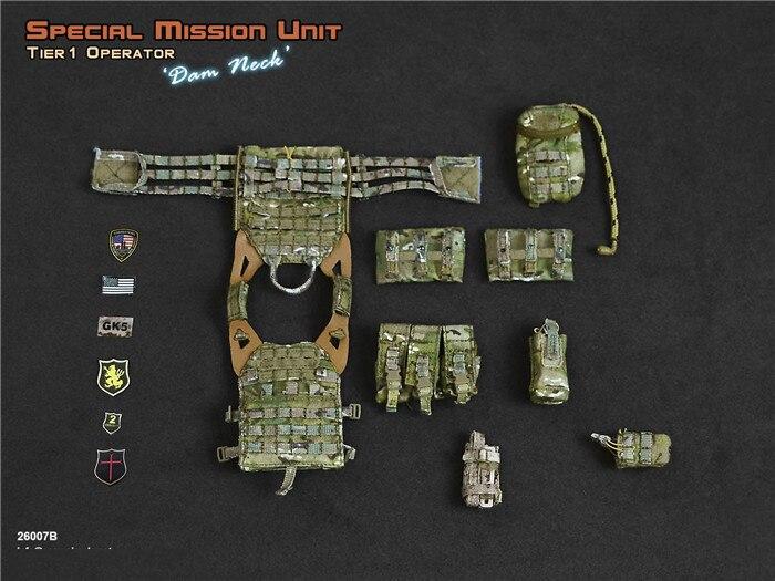 1//6 Scale Toy SMU-Tier 1 opérateur-Bragg-Tan Pantalon