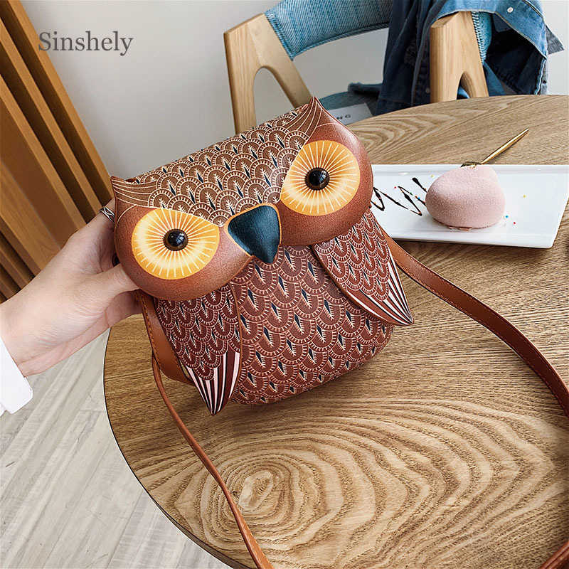 Adorable Owl Animal Shape Shoulder Bag Women 2019 Cute Leather Cross Body Bags Woman Luxury Brand Bag
