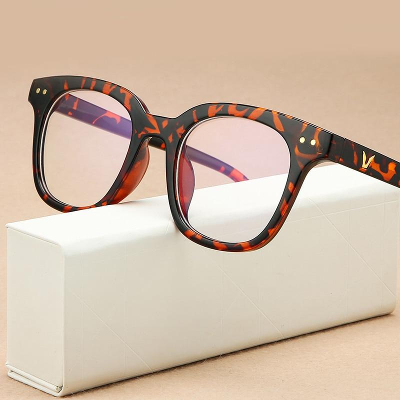 Retro Anti-blue Eyeglasses Frame Fashion Reading Glasses Frame Optical Prescription Men Eye Glasses