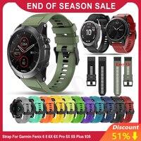 Heißer 26 22 20mm Armband für Garmin Fenix 5X 5 5S Plus 3 3HR 6 6S 6X pro Uhr Schnelle Release Silikon Einfach fit Handgelenk Band Straps